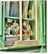 Flowers In The Window Acrylic Print