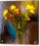 Flowers In Vase - Still Life Acrylic Print