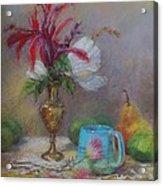 Flowers  Acrylic Print by Nancy Stutes