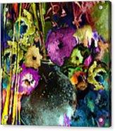 Flowers Night Party Acrylic Print