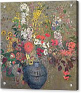 Flowers Acrylic Print by Odilon Redon