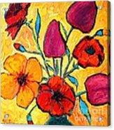 Flowers Of Love Acrylic Print by Ana Maria Edulescu