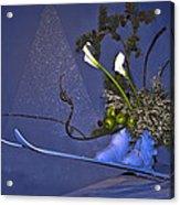 Flowers On Skis Acrylic Print