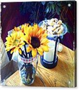 Flowers On Table Acrylic Print