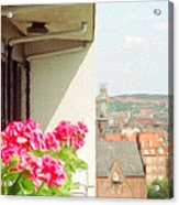 Flowers On The Balcony Acrylic Print by Jeff Kolker