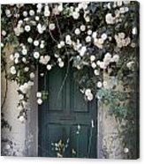 Flowers On The Door Acrylic Print