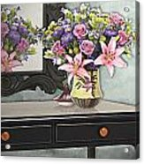 Flowers Table And Mirror In The Foyer Still Life Acrylic Print