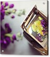 Flowers Thru A Lens Acrylic Print