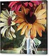 Flowers Water Ripples Acrylic Print
