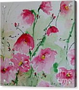 Flowers - Watercolor Painting Acrylic Print