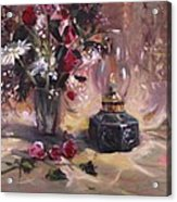 Flowers With Lantern Acrylic Print