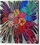 Flowers Burst By Jasna Gopic Acrylic Print