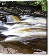 Flowing And Cascading At The Falls Of Dochart - Killin Scotland Acrylic Print