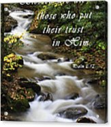 Flowing Creek With Scripture Acrylic Print