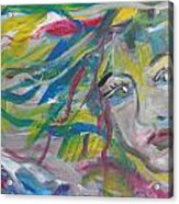 Flowing Girl Acrylic Print by Made by Marley