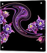 Flowing Purple Velvet 2 Acrylic Print
