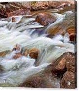 Flowing St Vrian Creek   Acrylic Print