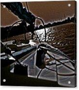 Floyd And A Setting Sun Acrylic Print