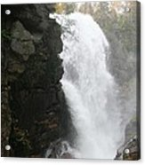 Flume Gorge Waterfall In Autumn Acrylic Print
