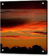 Fluorescent Sunset Acrylic Print