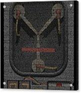 Flux Capacitor Mosaic Acrylic Print