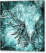 Fly Away Gothic Aqua Acrylic Print