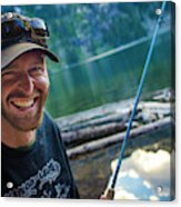 Fly Fishing Emerald Lake, Weminuche Acrylic Print