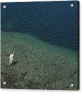 Fly Fishing In Alpine Lake Acrylic Print