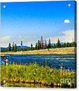 Fly Fishing In Yellowstone Acrylic Print