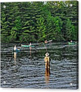 Fly Fishing West Penobscot River Maine Acrylic Print