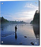 Flyfishing In Maine Acrylic Print