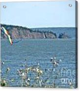 Flying A Kite On The East Coast Acrylic Print