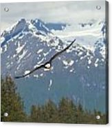Flying Amongst The Mountains Acrylic Print