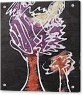 Flying Birds On The Big Tree Acrylic Print