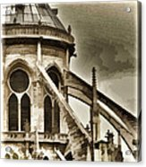 Flying Buttress At Notre Dame Acrylic Print