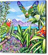Flying Colours Acrylic Print by Carolyn Steele