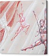 Flying Dancers  Acrylic Print