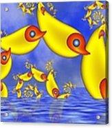 Jumping Fantasy Animals Acrylic Print