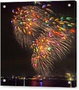 Flying Feathers Of Boston Fireworks Acrylic Print