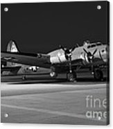 Flying Fortress On The Ramp Acrylic Print