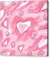 Flying Hearts Acrylic Print by Atlanta Carrera