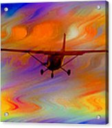 Flying Into A Rainbow Acrylic Print