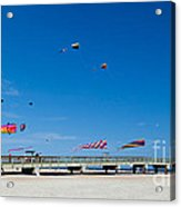 Flying Kites From The Pier Acrylic Print