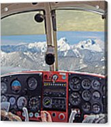 Flying Over North Cascades Acrylic Print