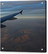 Flying Over The Mojave Desert At Dawn Acrylic Print