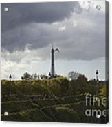 Flying Over The Tuileries Acrylic Print