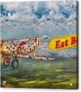 Flying Pigs - Plane - Eat Beef Acrylic Print