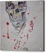 Flying Skull Acrylic Print by Erik Franco
