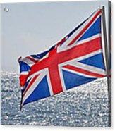 Flying The British Flag Acrylic Print