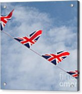 Flying The Union Jack Acrylic Print